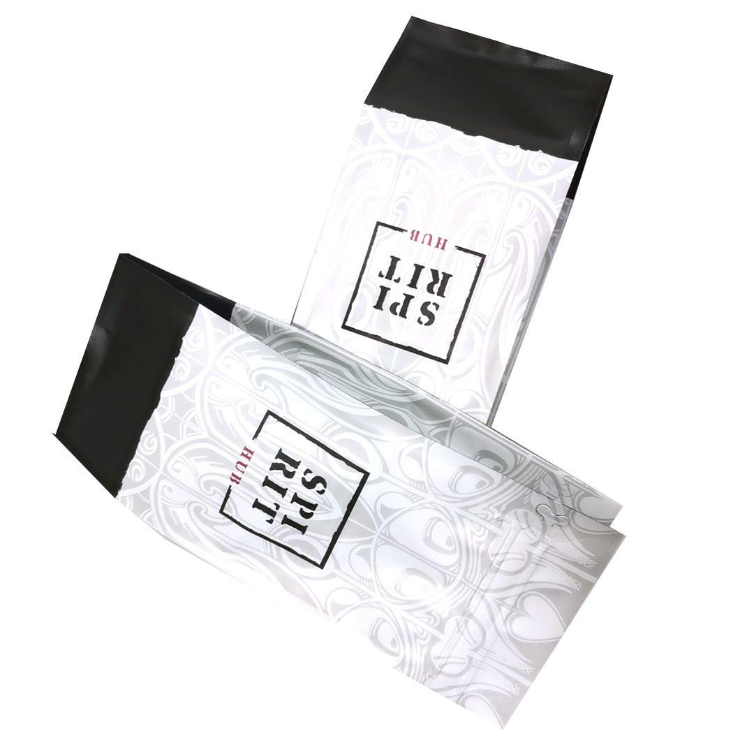 Aluminum foil matte Zipper Side gusset for Tea Coffee bean