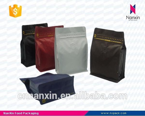 high quality coffee packaging side gusset foil ziplock pouch with valve