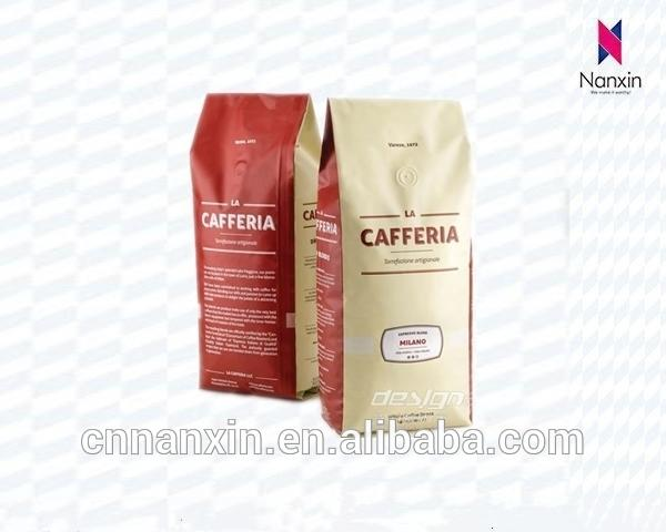 Laminated Coffee pouch side gusset bag