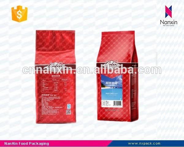 resealable foil lined coffee packaging eight side seal bag