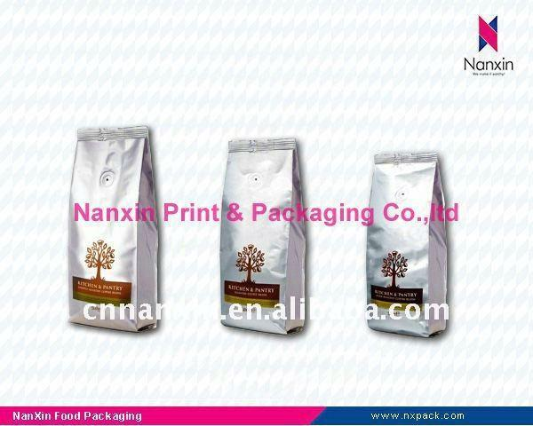 Plastic Coffee bag with valve - Coffee bean packaging