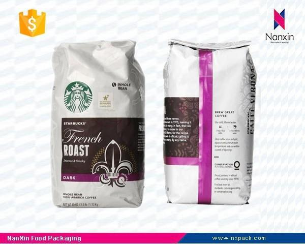 foil lined coffee packaging bag with valve