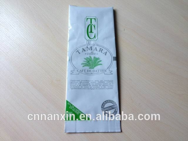 coffee packaging bags with ziplock and notch