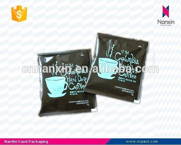 customizable foil lined coffee packaging sachet