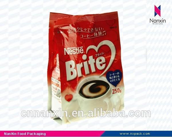Best quality customer printing aluminum foil coffee bag coffee beans bag
