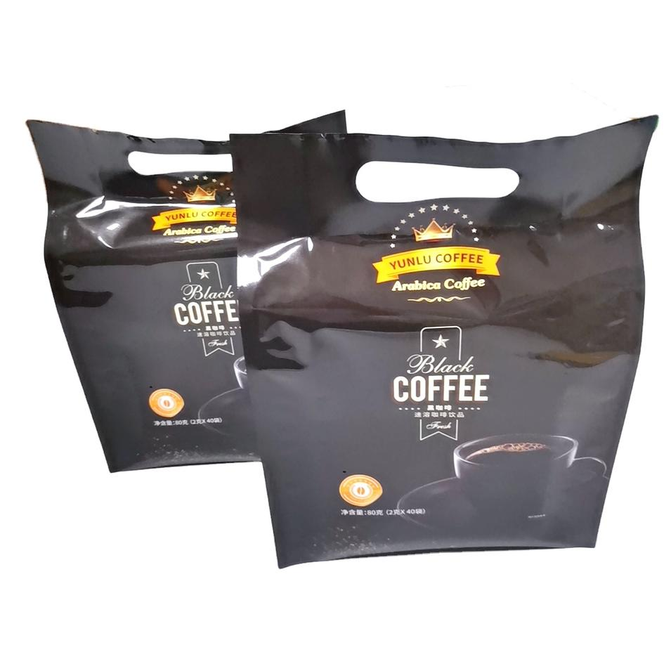 Customized coffee bean packing side gusset Bags with handle