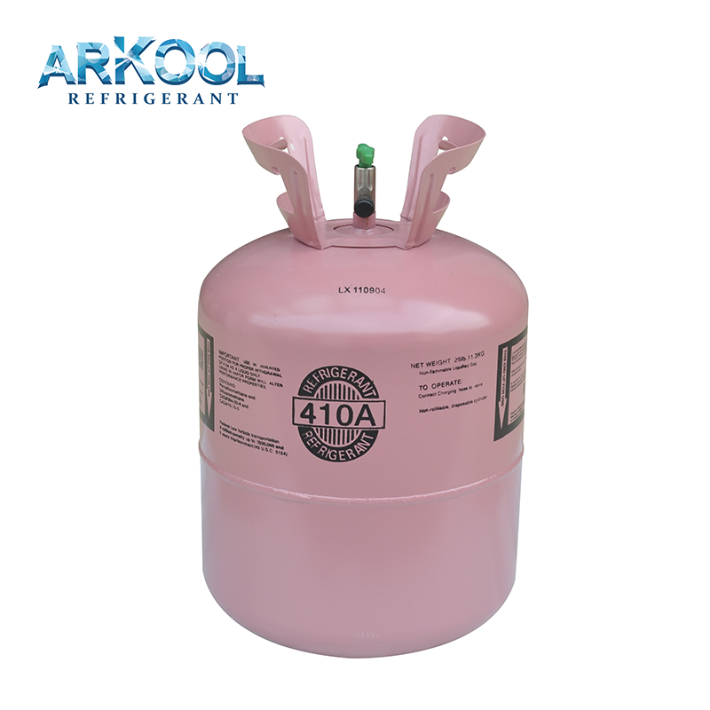 hot sale refrigerant gas r410 price and air conditioner spare parts r410a gas air conditioner
