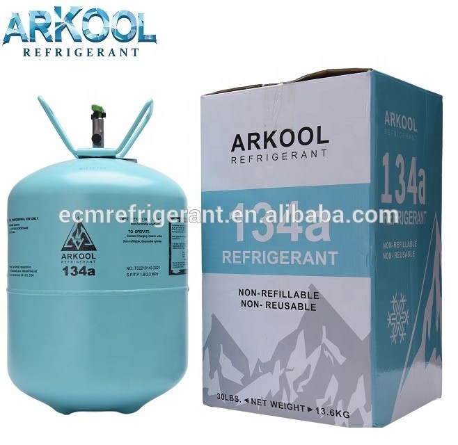 Refillable cylinders r134a refrigerant gas high purity 99.9% CE /EU