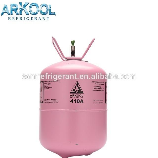 ECM R410a refrigerant gas used on ac refrigeration system in 1kg can 650gr net