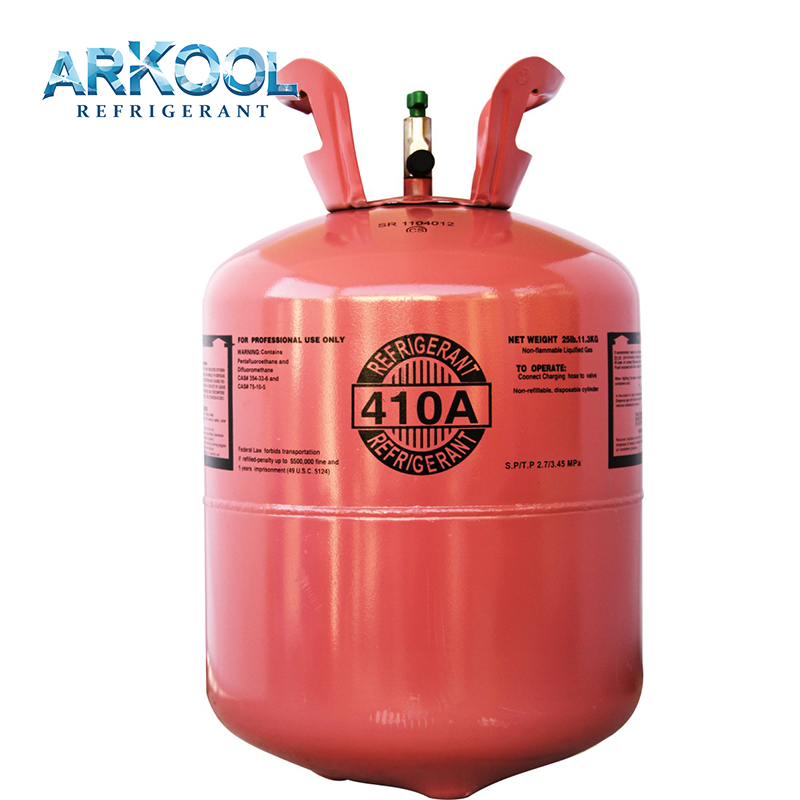 Direct wholesale gas R410 refrigerant gas factory R410A gas cylinder for sale11.3kg disposable cylinder