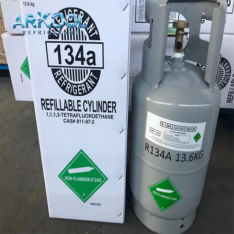 13.6kg refrigerant r134a gas cylinder used car system AC , EU