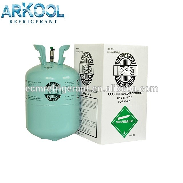 12kg air conditioner purity 99.99%refrigerant gasrefillable cylinder r134a