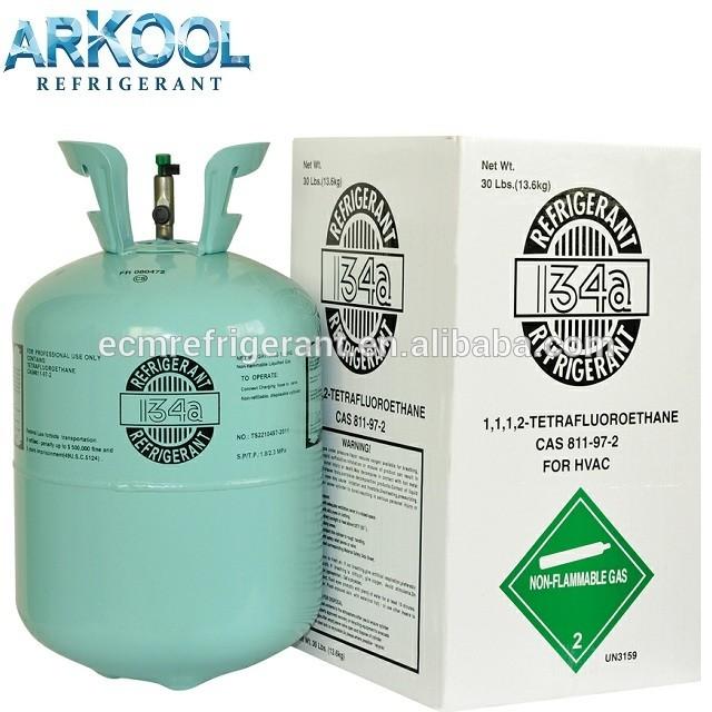 Refrigerant refillable r134a gaz 134a gas