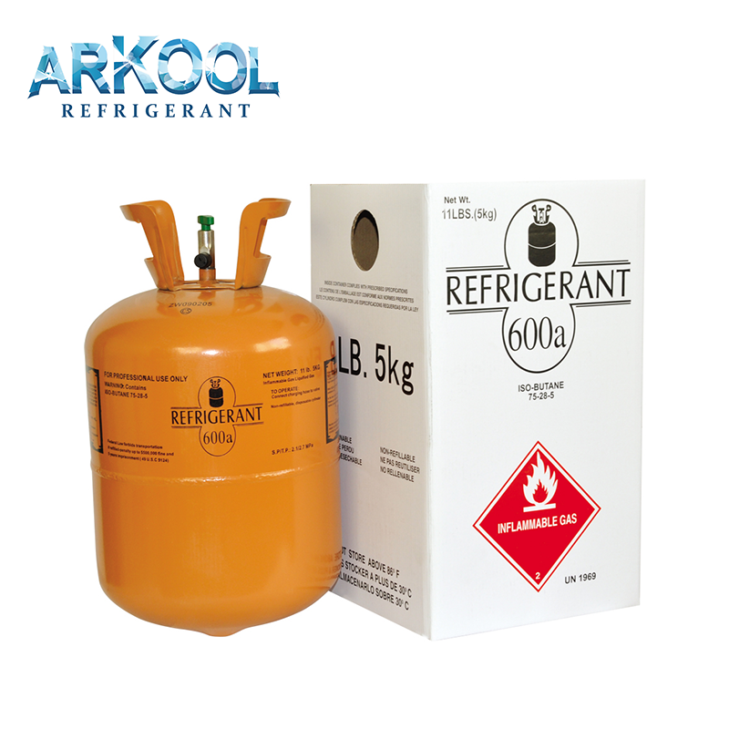 R600a Refrigerant Gas 6.5kg cylinder with best price