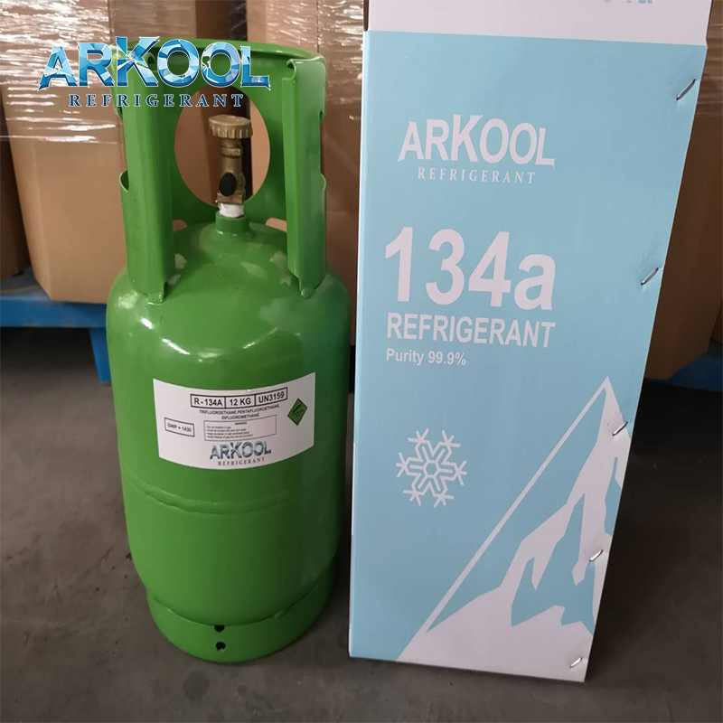 R134a gas air conditioner r134a refrigerant gas cylinder refillable / tonner for EU CE
