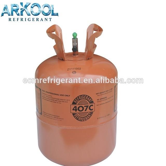 refrigerant gas r407c gas price for freezer(R600a,R134a,R290A, R404A, R407C, R410A)
