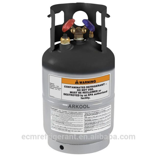 refillable gas cylinder r134a CE 12L 1/4 cylinder two valves