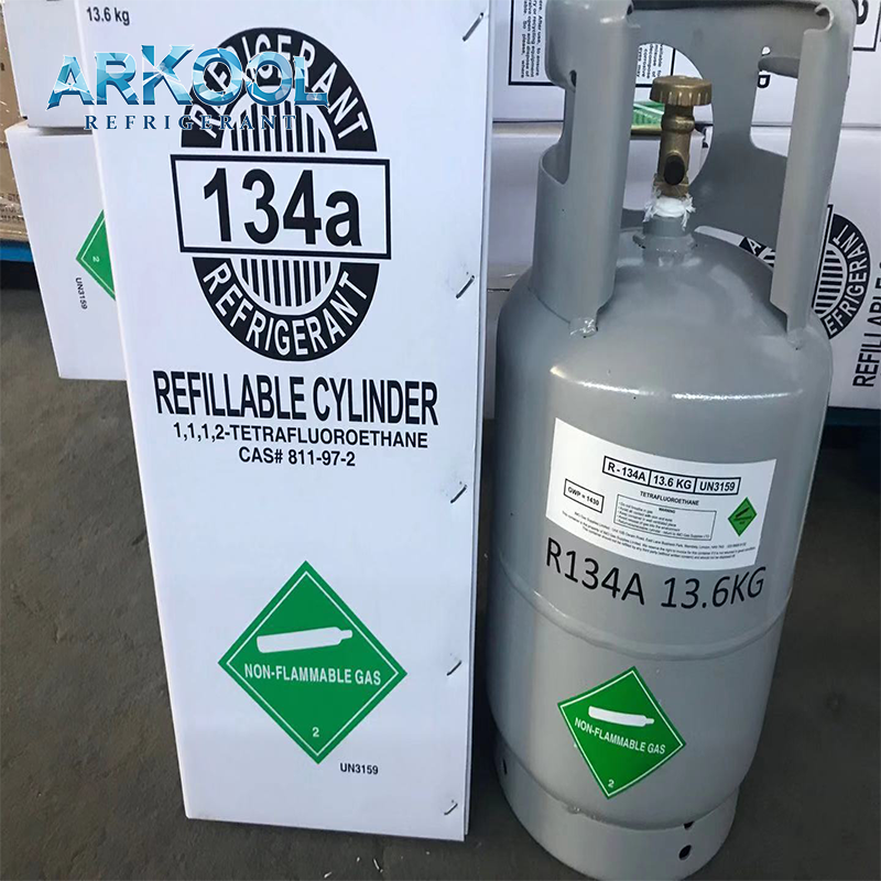 R134a gas air conditioner r134a refrigerant gas cylinder refillable / tonner