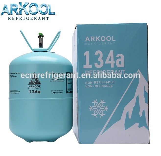 Refillable cylinders r134a refrigerant gas high purity 99.9% car AC good quality