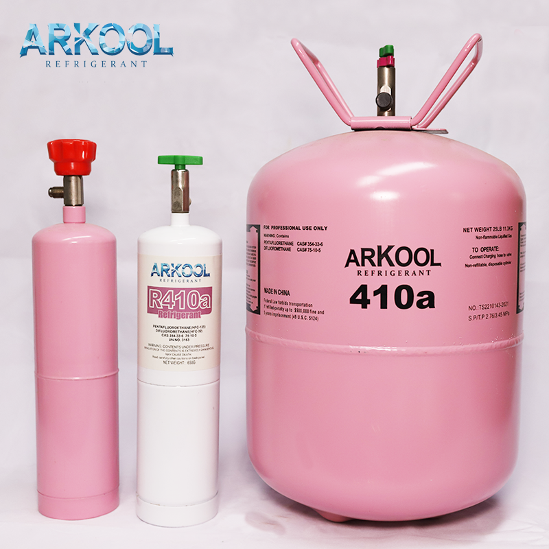 ARKOOL R410a refrigerant gas used on ac refrigeration system in 1kg can 650gr net