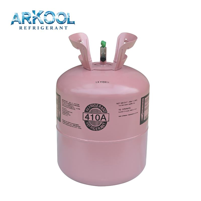 OEM R410a refrigerant gas can for a/c refrigeration system