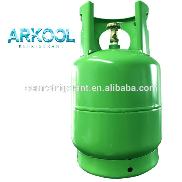 stock refrigerant r134a refilled cylinder and can