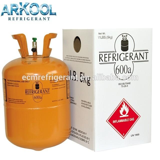 n-butane refrigerant gas r600a r600 600 600a 99.9% purity