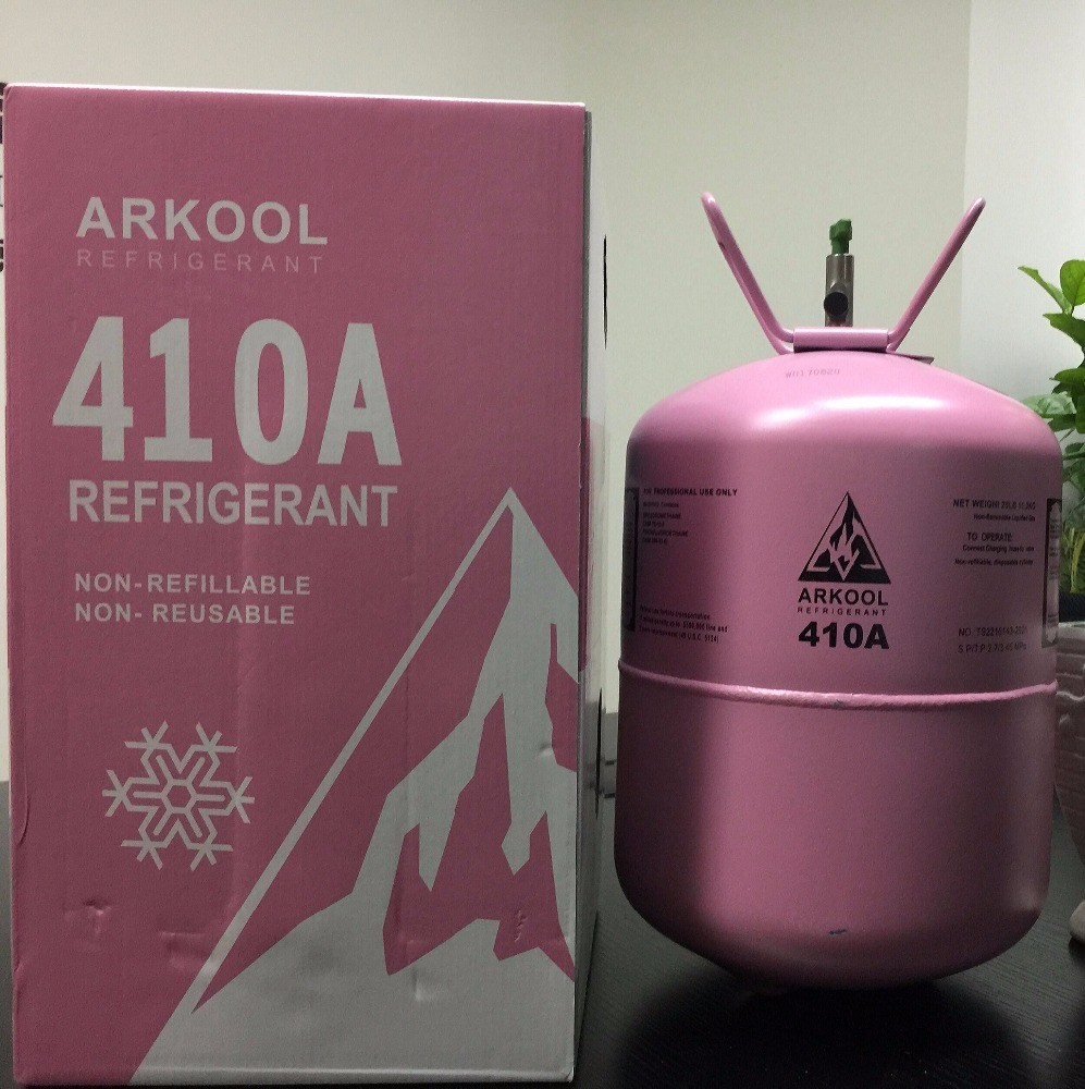 99.9% purity R410A refrigerant gas