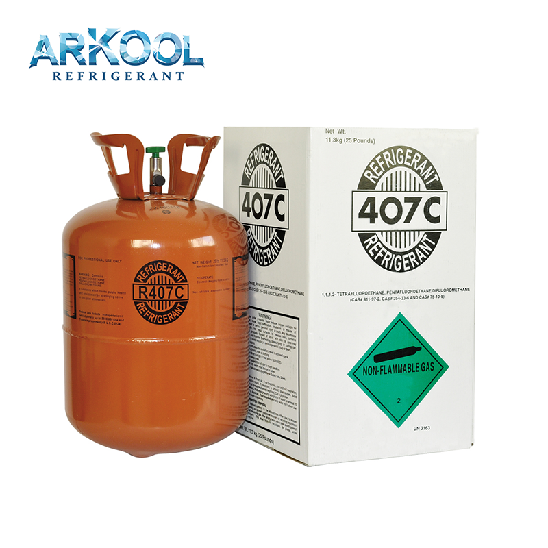 Hot sale 11.3KG Refrigerant R407c99.9% High Purity refrigerant gas 407c