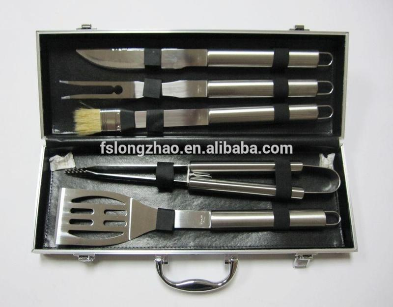 LFGB Approval 6PCS Barbecue Tools Set, stainless steel BBQ tools