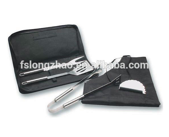 with Bag 3pcs SS BBQ clip/spade/fork barbecue bag