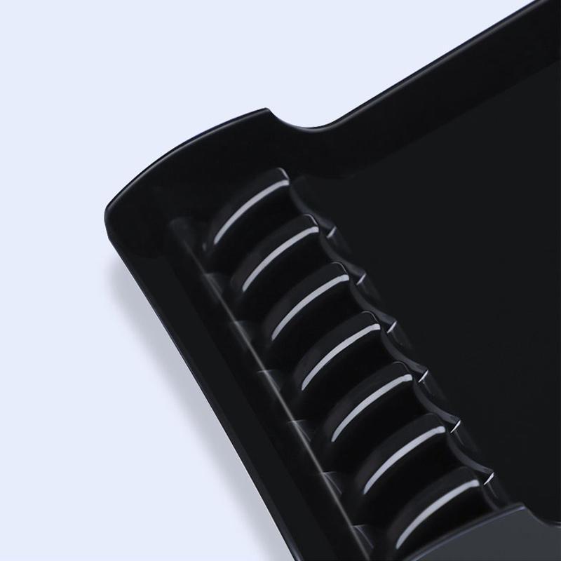 High quality salon Plastic Scissors Shelf Holder Stand Rack 6 Scissors Case Holder anti slid holder
