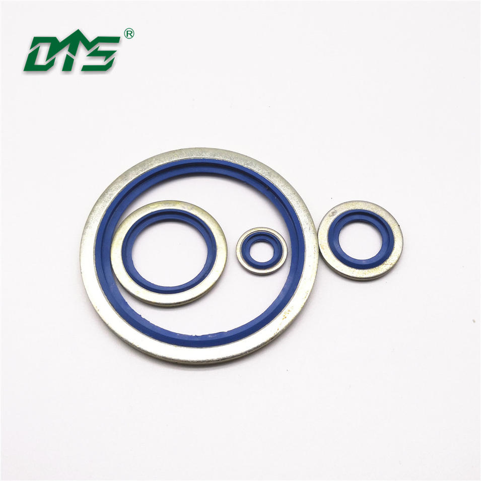 Steel+NBR/FKM Bonded Seal Washers Black Blue red Color