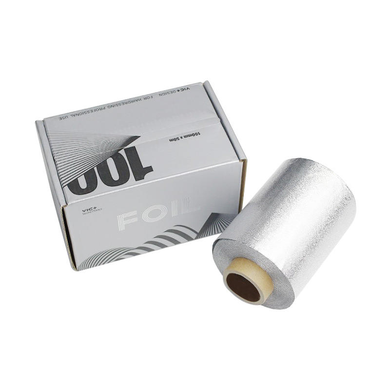 12micX100mmX50m Width Hair Salon Coloring Silver Curling Aluminum Foil Roll