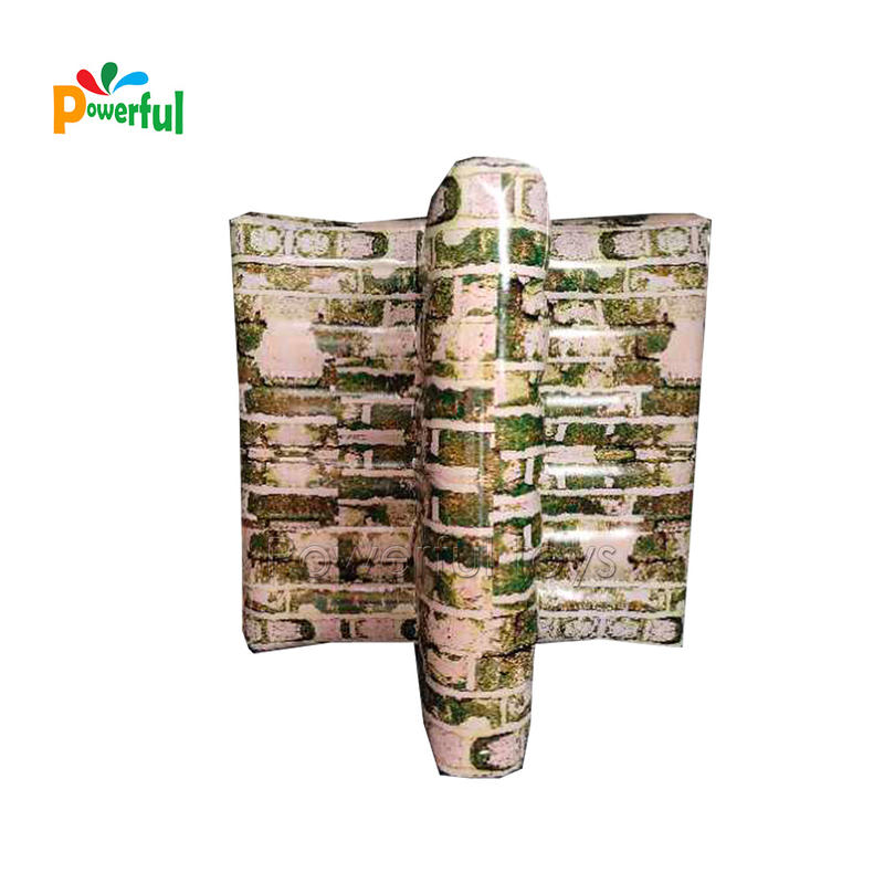 Inflatable T shape wall for paintball bunkers