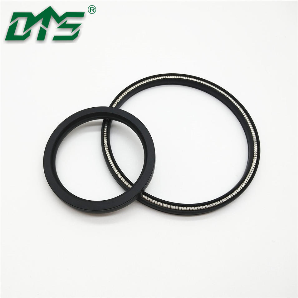 V Spring Loaded Carbon Filled Ptfe Power Direction Machine Spring Seal
