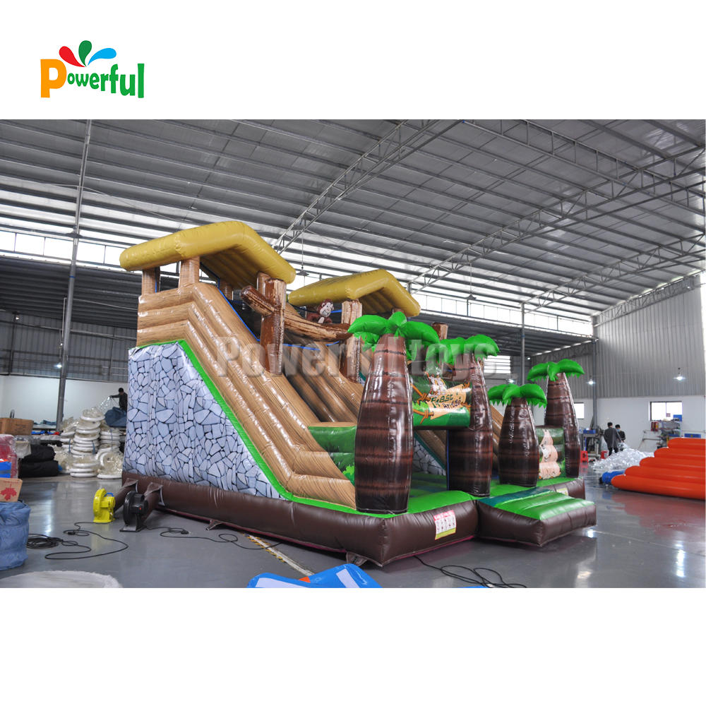 Inflatable jungle Monkey Slide Inflatable Dry Slide For Kids