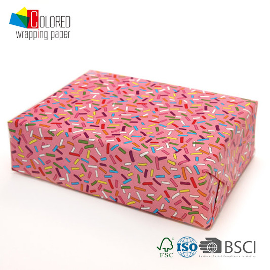 Sweet Sprinkle Printing Gift Wrapping Paper Cute Design for Girls