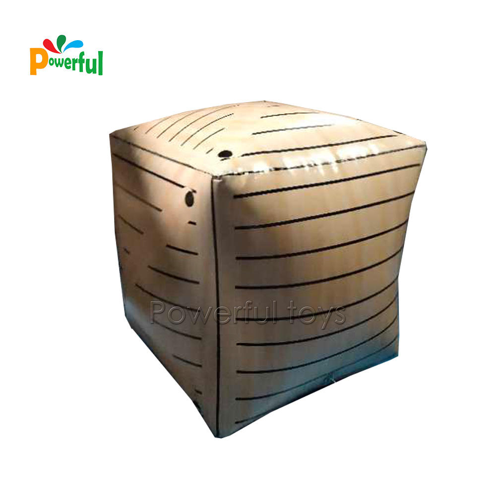 Inflatable box shape paintball bunkers set for sales