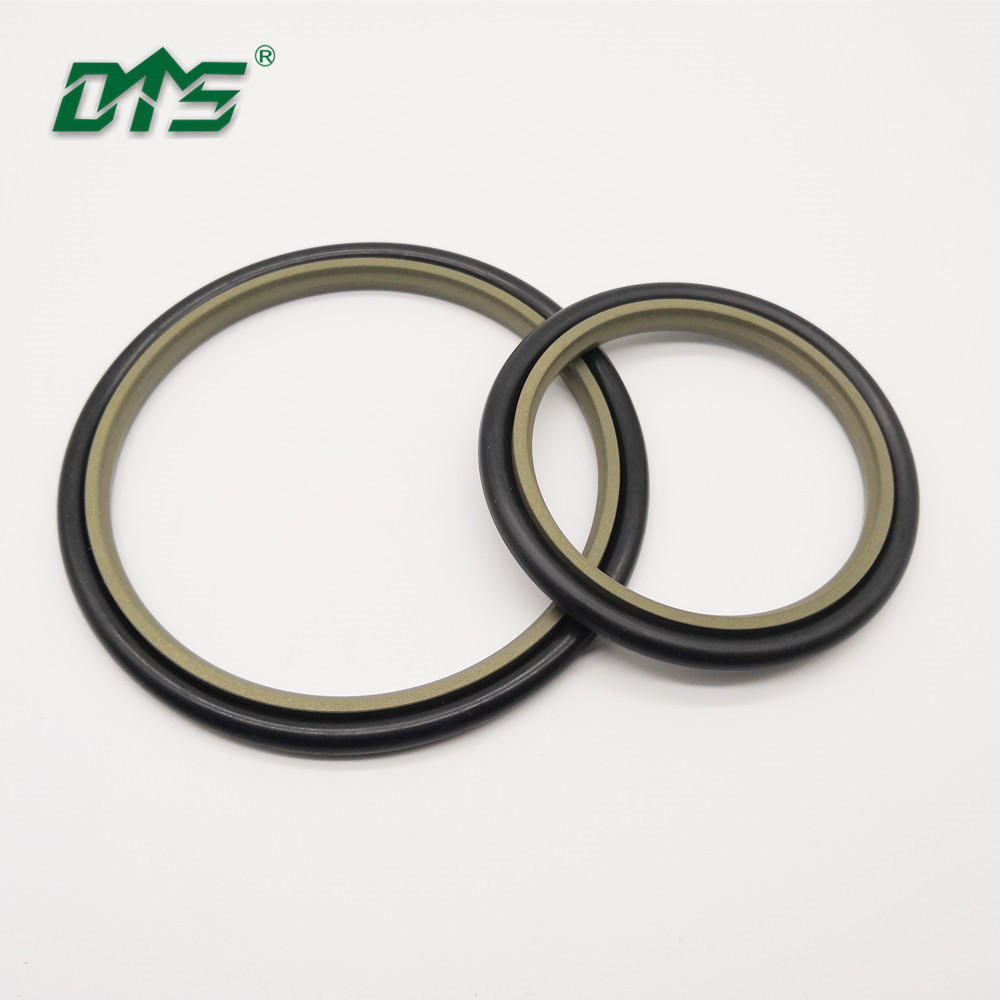 40% bronze PTFE hydraulic rod buffer step seal with brown and green color