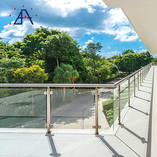 Hot Sale Outdoor Stairs Round or Rectangle Aluminum Handrails