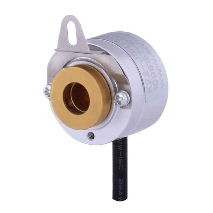 K22 blind hole hollow shaft 6mm 512ppr A+B+A-B- TTL difference output rmini linear rotary hollow shaft encoder