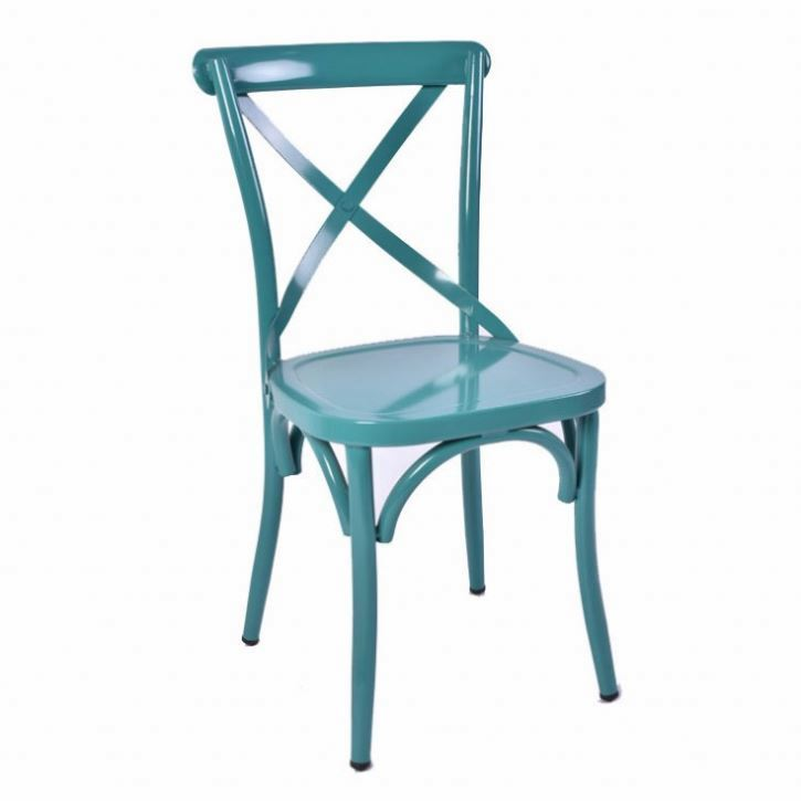 Popular cheap price dining x back metal side stackable cross back chair