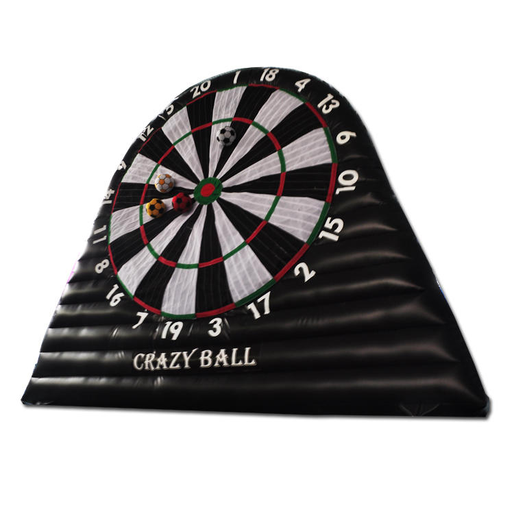 4m height Inflatable soccer football darts board game