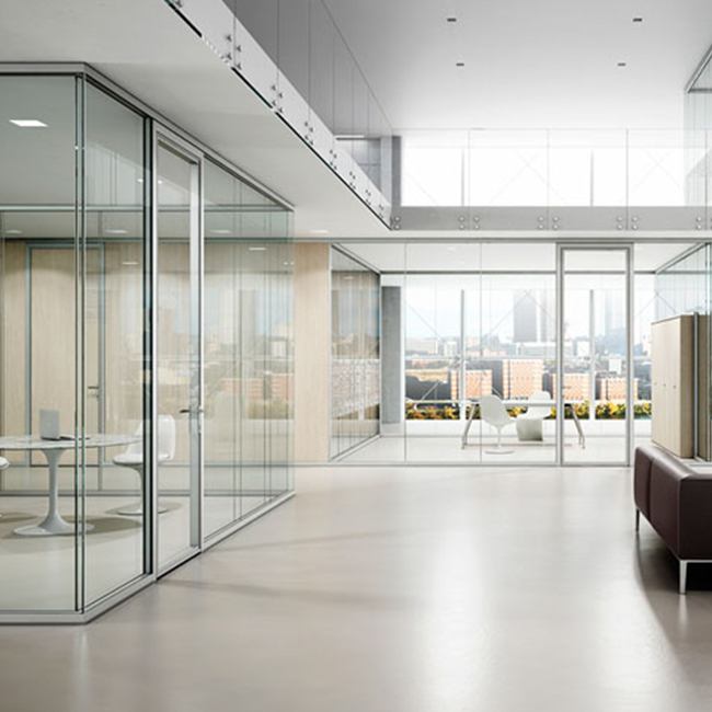 Various types of glass partition wall