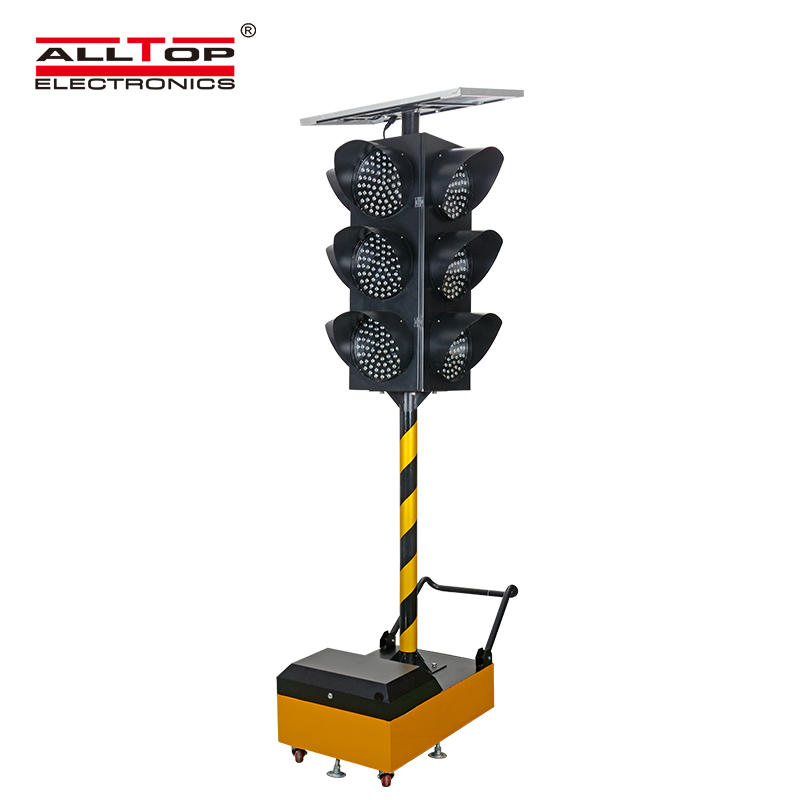 ALLTOP New Design LED Solar Warning Light Flashing Red Traffic Indicator Light