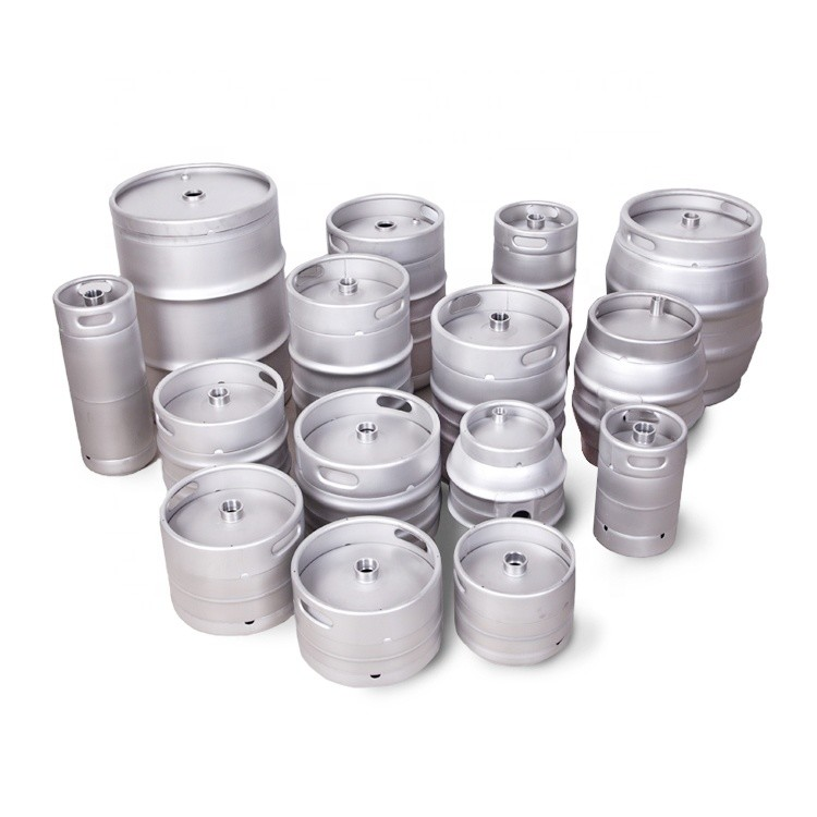 Food grade euro wholesale 64 pressurized2l 5L stainless steel beer mini keg growler