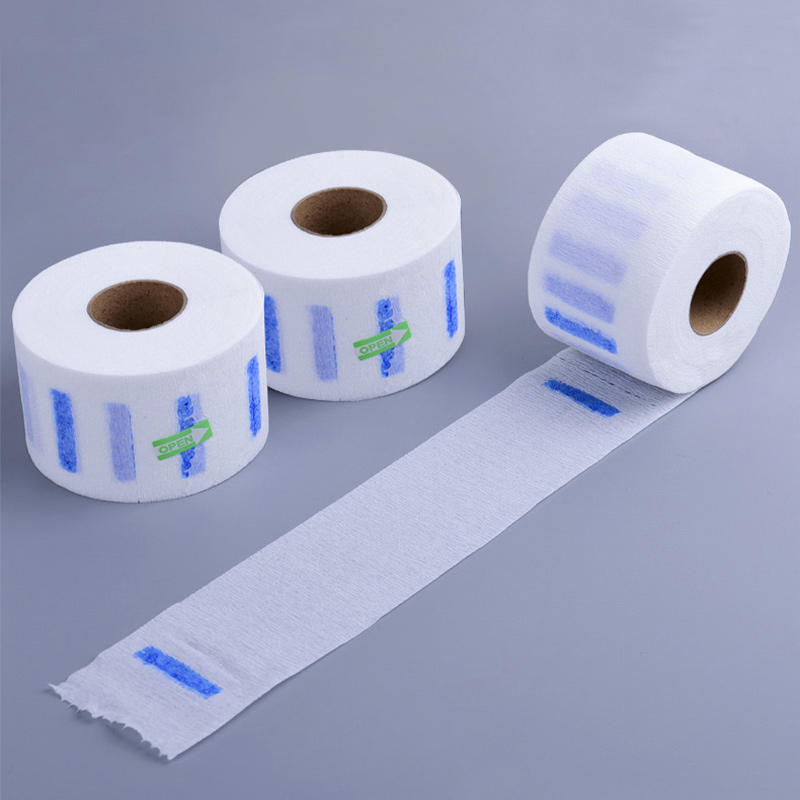Hot sell disposable beauty ruffles barber hairdressing neck disposable neck paper neck strip