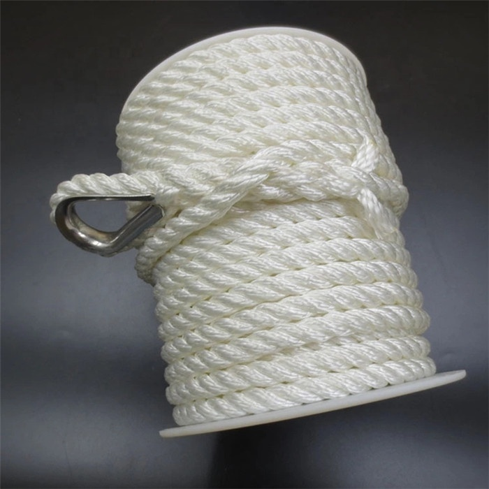 manufacture3 strand Nylon twisted rope anchor line