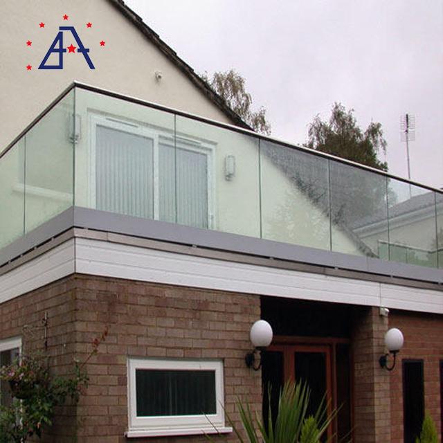 Modern Designs Aluminium Glass balustrade For Outdoor Balcony